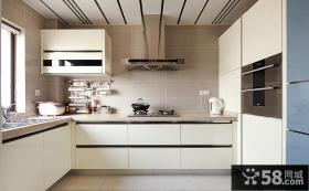 宜家U型厨房整体橱柜效果图欣赏