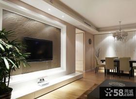 现代简约风格两室一厅电视背景墙装修效果图