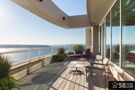 景观阳台玻璃吊顶