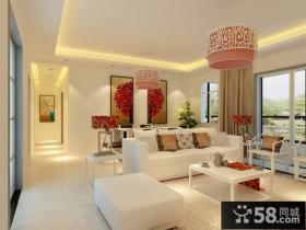 简单的中式风格客厅吊顶装修效果图大全2012图片