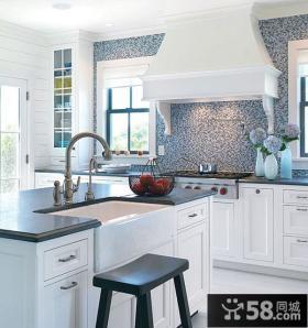复式楼简洁干净厨房装修效果图大全2014图片