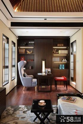 美式风格书房设计图片欣赏大全