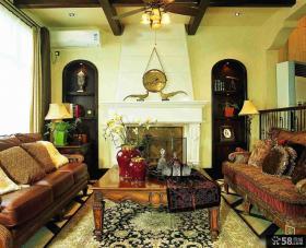 美式乡村风格别墅装修客厅设计效果图