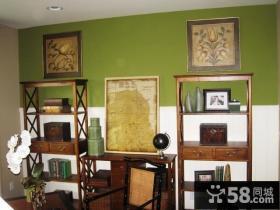 45平超小户型现代客厅博古架装修效果图
