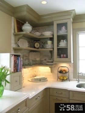 欧式厨房橱柜大理石台面图片