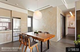 现代简约风格厨房小餐厅瓷砖背景墙效果图