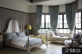 简欧复古设计别墅卧室装饰效果图