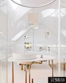 简约白色的复式楼卧室装修效果图大全2014图片