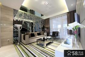 现代家装客厅沙发背景墙效果图