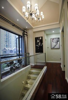 现代别墅室内楼梯间装修设计