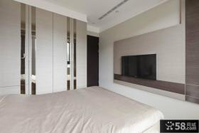 卧室简单的电视背景墙装修效果图