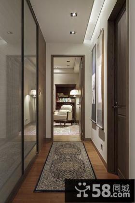 现代风格别墅室内过道装饰图片