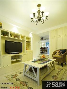 地中海风格小户型客厅电视柜图片