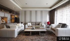 时尚现代两房装修客厅效果图