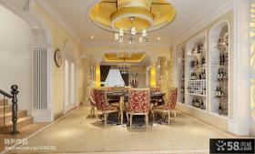 餐厅圆形吊顶造型设计图片