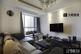 简单家装客厅电视背景墙效果图
