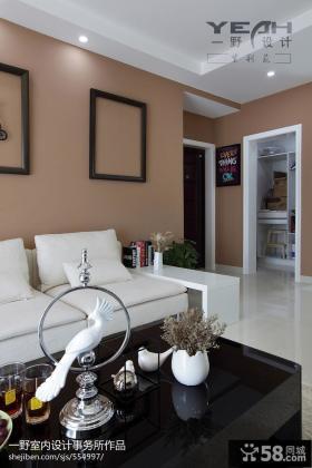 现代简约风格风格客厅沙发茶几背景墙设计