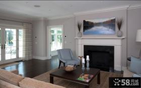 经典美式风格装修客厅效果图