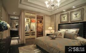 卧室步入式衣帽间装修效果图