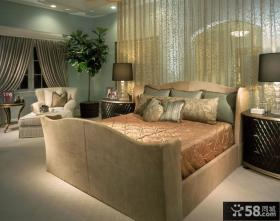 主卧室装修效果图大全 欧式卧室床头床幔隔断装修效果图