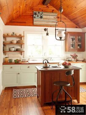 实木厨柜装修效果图