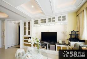 简单家装客厅电视背景墙图片