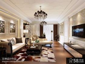 简欧客厅天花板吊顶装修效果图大全2013图片