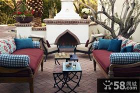 东南亚风格别墅露天阳台装修效果图