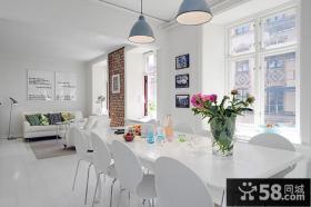 现代风格家庭餐厅桌效果图