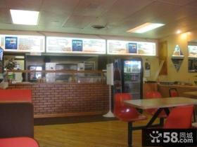 披萨店装修效果图2014图片
