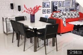 现代客厅餐厅一体装修效果图