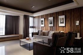 新中式客厅沙发背景墙装修效果图