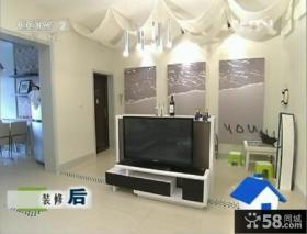 交换空间电视机隔断墙效果图