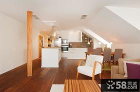 56万打造现代别复式客厅阁楼修样板间效果图