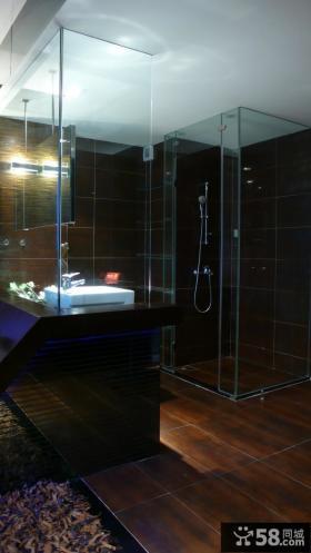 50平小户型单身公寓卫生间效果图