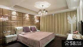 欧式豪华卧室布艺窗帘图片