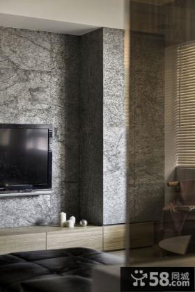 现代公寓电视背景墙效果图片