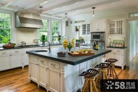 美式风格家具厨房整体橱柜装修效果图
