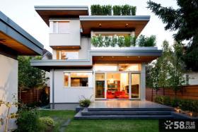 现代别墅错层阳台设计图