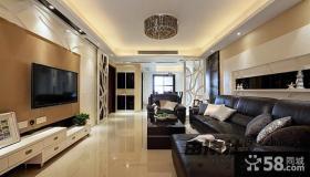 三居室客厅电视墙颜色效果图