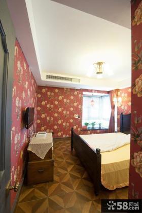 美式风格卧室墙纸效果图