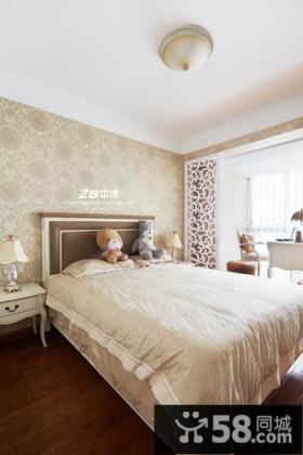 简欧风格卧室背景墙设计效果图欣赏