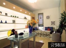 80后风格书房卧室装修设计效果图