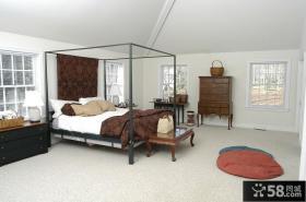 美式复古风格卧室装修效果图