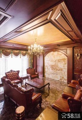 中式风格豪华别墅装修效果图欣赏2015
