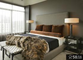 卧室简单背景墙装修效果图大全2012图片