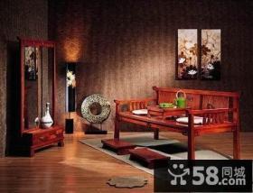 中式古典卧室地板砖效果图