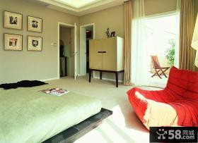 现代风格三层复式楼客厅装修效果图
