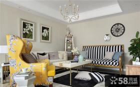 欧式田园风格客厅色彩装修设计