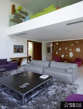 复式楼客厅样板房装修效果图欣赏